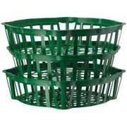 Корзинка для луковиц овальная 20 см зеленая