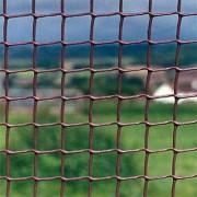 Коричневая Пластиковая Садовая Сетка с размером ячейки 19*19 мм