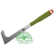 Садовый нож для удаления травы, металлический, с пластмассовой рукояткой