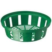 Корзинка для луковиц круглая 30 см зеленая