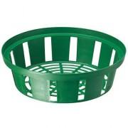 Корзинка для луковиц круглая 18 см зеленая