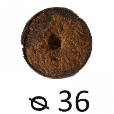 Таблетка торф'яна в сітці d 36 мм фото