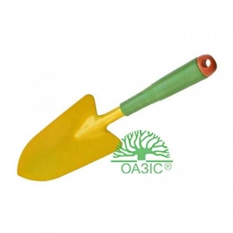 Лопатка садова, широка, металева з пластмасовою ручкою фото