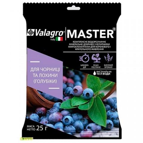 Комплексне мінеральне добриво для чорниці та лохини високорослої Master (Майстер), 25г, NPK 13.40.13 фото
