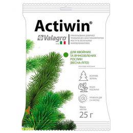 Комплексне мінеральне добриво для хвойних і вічнозелених рослин Actiwin (Активін), 25г, NPK 12.5.20, Весна-Літо фото