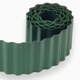 Бордюр пластиковий для облямівки газону фото