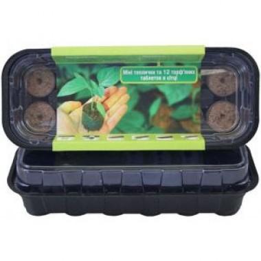 Набор: Мини-теплица и 12 торфяных таблеток в сетке 36 диаметра купить онлайн