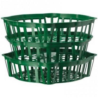 Корзинка для луковиц овальная 20 см зеленая почтой