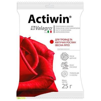 Комплексное минеральное удобрение для роз и цветущих растений Actiwin (Активин), 25г, NPK 12.5.20, Весна-Лето фото