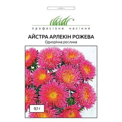 Астра Арлекин розовая фото