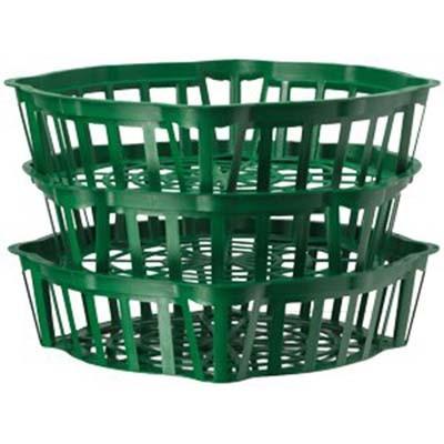 Корзинка для луковиц овальная 25 см зеленая фото