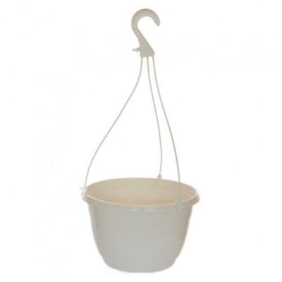 Подвесной горшок белый Nicolini Twist  (3,1 л) диаметром 20 см фото