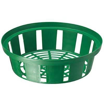 Корзинка для луковиц круглая 30 см зеленая фото
