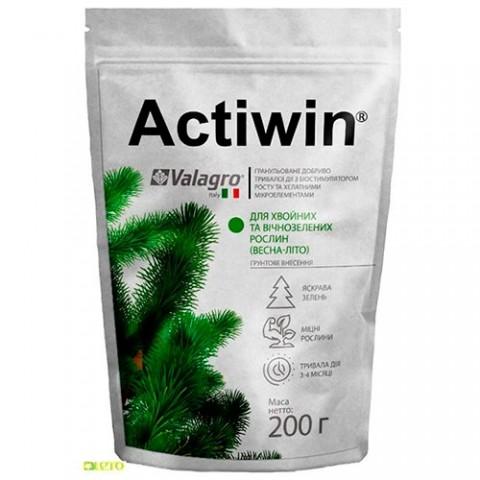 Комплексное минеральное удобрение Actiwin для хвойных и вечнозеленых 200г, NPK 12.5.20, Весна-Лето фото