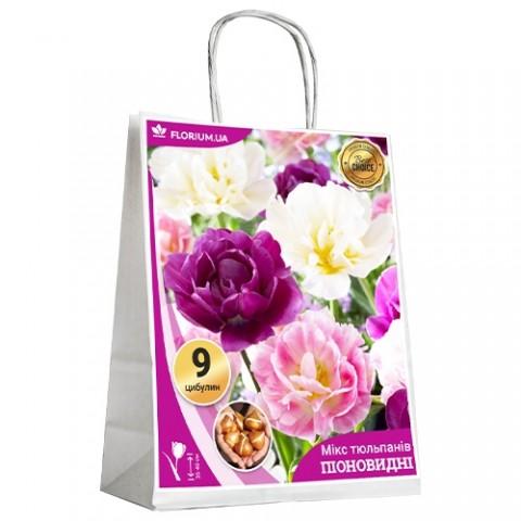 Микс Пионовидных Тюльпанов (брендовый пакет) фото