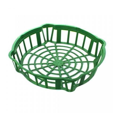 Корзинка для луковиц овальная 20 см зеленая фото