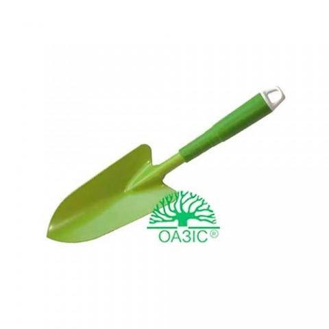 Лопатка садовая, широкая с пластмассовой  рукояткой фото