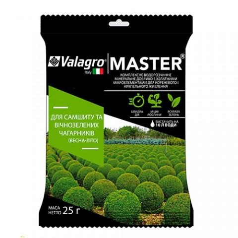Комплексное минеральное удобрение для самшита и вечнозеленых кустарников Master (Мастер), 25г, NPK 17.6.18, Весна-Лето фото