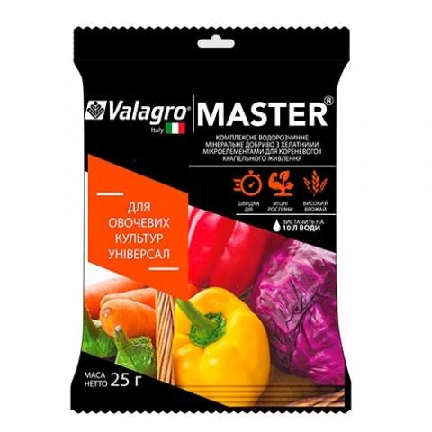 Комплексное минеральное универсальное удобрение для овощных культур Master (Мастер), 25г, NPK 18.18.18 фото