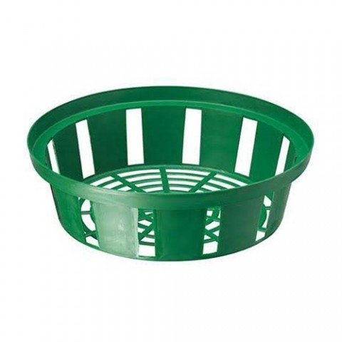 Корзинка для луковиц круглая 18 см зеленая фото