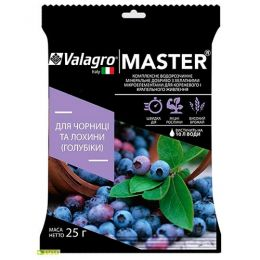Комплексное минеральное удобрение для черники и голубики высокорослой Master (Мастер), 25г, NPK 13.40.13 фото