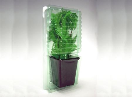 горшок упакованный в пластиковый блистер